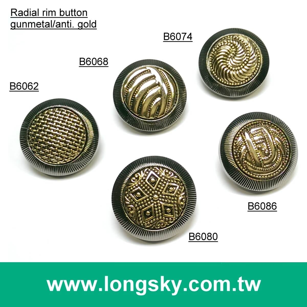(#B6062/15mm, 21mm) 2016 fashion 2 piece assembled abs button for stylish wear