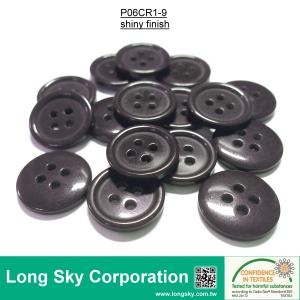 (#P06CR1-9) 15mm dark purple color 4 holes sewing on polyester resin button for suit