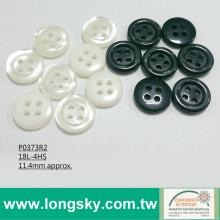 (P0373R2) Imitation Shell Polyester Button for Uniform