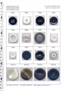 Big Polyester Resin Buttons