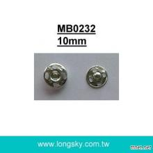 (#MB0232/10mm) metal sewing on press snap button
