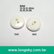 (#B0820/24L, 28L, 34L, 40L) General design heat-resistant round two hole sew clothing buttons