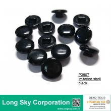(#P3907) 16L black cardigan buttons, sweater shank buttons