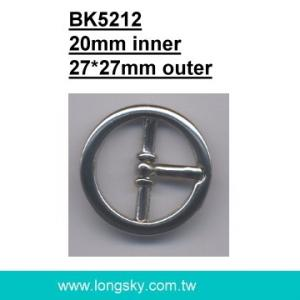 Circle zinc belt buckle with single prong (#BK5212/20mm inner)