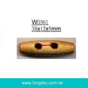 (#W0361) Fashion barrel wooden toggle wood buttons for cloak