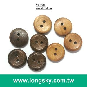(#W0231) 2 hole classic craft natural wooden button