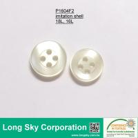 (P1604F2) 18L, 16L Cream Imitation Shell Button for Blouse, Shirt and Garments