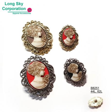 (#B8251) 28mm, 40mm cameo buttons