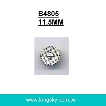 (#B4805) fancy designer small shank type plastic silver button for ladies suits