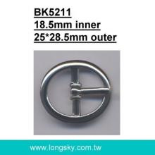classic oval metal belt buckles (BK5211/18.5mm)