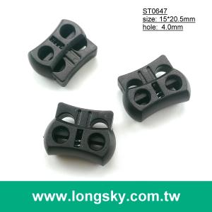 (#ST0647) 4mm cord hole cord lock with double hole for sport pants
