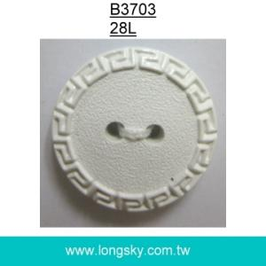 (#B3703/28L) 2 holes nylon chinese pattern button for garments