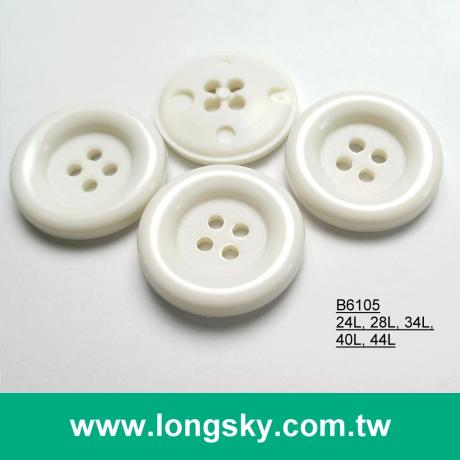 (#B6105) classic round edge 4 hole plastic nylon button for decoration