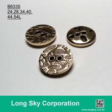 (B6335/24L,28L,34L,40L,44L,54L) 2 hole antique gold plating abs women suit button