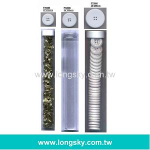 26mm PVC Tube for packing clothing plastic resin buttons or ornaments (#PT0000/26mm*200mm)