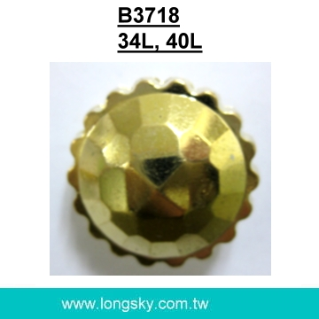 (#B3718/34L,40L) Gold plated plastic buttons for lady coats
