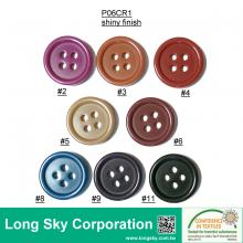 (#P06CR1-4HS) 15mm 8 colors to choose 4 holes polyester craft button