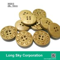 (#W0915) 4 hole new design fashion wooden buttons for coats