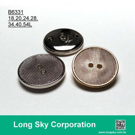 (B6331/18L,20L,24L,28L,34L,40L,54L) 2 hole gold plating abs shirt button and suit button