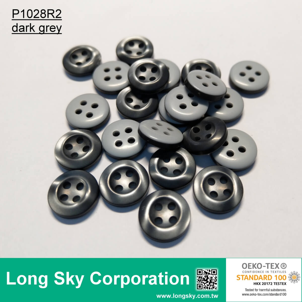 Round Polyester Shank Button 11mm Pale Blue 18L