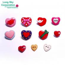 (#B76-4) Valentine's Day cute heart craft buttons