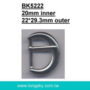 U-shaped belt buckle with prong (#BK5222/20mm inner)