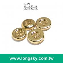 (#B4878) 4-hole classical gold plated blouse button