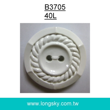 (#B3705/40L) stylish rope pattern plastic coat button with 2 holes
