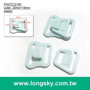 (#PA27212145/11.5mm inner) plastic couple hook, buckle for nursing bra strap