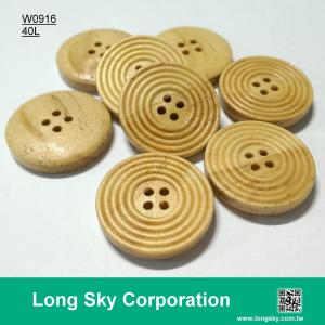 (#W0916) 4 hole 40L big fashion natural wooden suit coat button