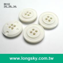 (#B6103/24L, 28L, 34L) classic round circle 4 hole plastic button for clothing
