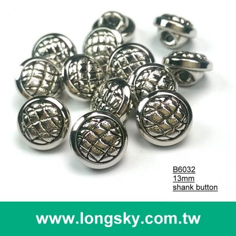 (#B6032/13mm) animal stripe round type antique silver plated abs plastic shank button