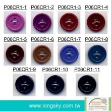 (P06CR1) 24L Taiwan made eco friendly colored polyester resin shirt button