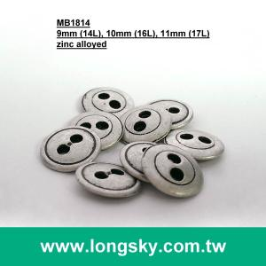 (MB1814/14L,16L,17L) 2 hole antique silver small sizes metal made shirt apparel button