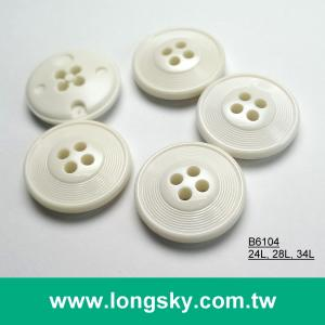 (#B6104/24L, 28L, 34L) classic round 4 hole nylon dyeable button for garment