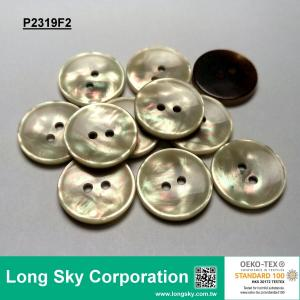 (#P2319F2) 30L Imitation MOP Shell Polyester Resin Button for Coat