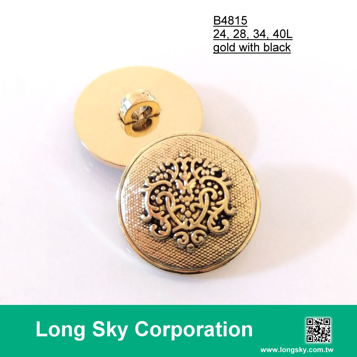 (#B4815) fashion royal style coat button