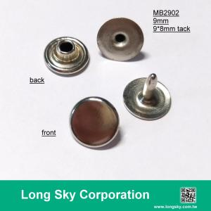 (MB2902/9mm) decorative cap top brass rivet stud for clothing, jacket