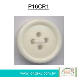 (#P16CR1) cream plastic polyester resin children coat button