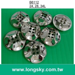(#B6112) 2016 fashion best plated nickel free silver 4 hole button