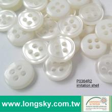(P0364R2) 14L, 16L Round Imitation Shell Polyester Resin for Clothes