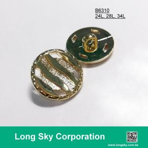 (#B6310/24L, 28L, 34L) gold shank ABS plastic button for jacket
