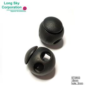 (#ST0653) 5mm hole ball shape cord lock, sport coat's string adjuster