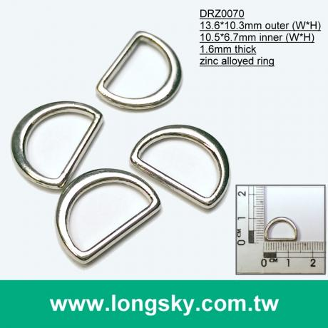(#DRZ0070/10.5mm) metal d ring for 10mm coat belt