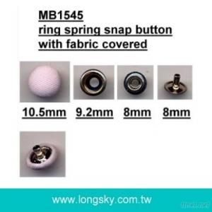 (#MB1545/10.5mm) press snap button with fabric covered for Knitted garments