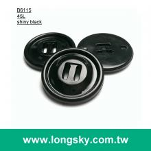 (#B6115) 45L shiny black wide hole high strength at high temperatures military uniform coat buttons