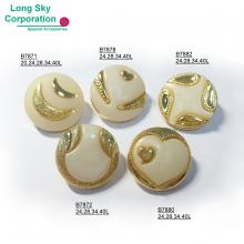 (B78X-1-4) New pearl top combined button collection for fashion women wear