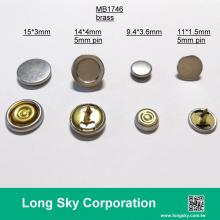 (MB1746/15mm) Metal brass snap button