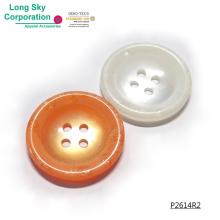 (#P2614R2) bright color button with glitter inside