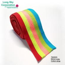 (TM2805) 60mm wide colored cotton knitting strap for sweater decoration